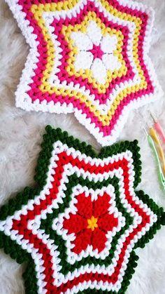 2019 Kafesteki Çiçek Yeni Lif Modeli Yapımı Tree Skirts, Christmas Tree, Blanket, Holiday Decor, Crochet, Crochet Carpet, Farmhouse Rugs, Knits, Tricot