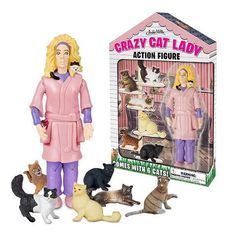 Crazy Cat Lady Figurine #Under-$50 #For-Women #Gifts-For_Gag-Gifts