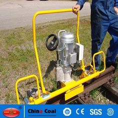 chinacoal03 Portable Electric Rail End Face Grinding Machine Sale GM - 2.2 electric rail grinding machine is suitable for the grinding of 43 kg/m - 75 kg/m rail welding line, uneven joints, rail side fat edge, rail surface repairing parts, etc. With high working efficiency, good quality and simple operation, it is necessary tool for railway maintenance.