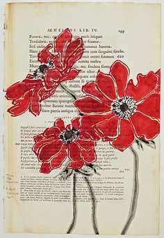 Robert Kushner    (flowers and book pages? yes, please)