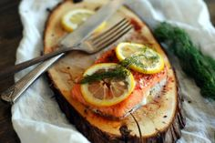Simply So Good: Cedar Plank Salmon with Lemon and Dill
