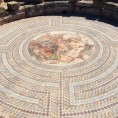 A mosaic of Theseus and the Minotaur in Paphos