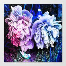 Unicorn Flowers Canvas Print