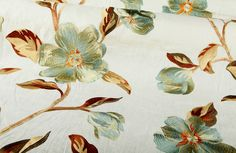 Arlington Drapery Fabric in Celadon has a beautifully-embroidered floral pattern on a 100% linen base. This intricately-designed fabric is only $88 per yard. Find this and more discount designer fabrics in the Land & Sea FabricSeen Curated Fabric Collection: http://blog.fabricseen.com/land-sea-fabricseen-curated-fabric-collection/