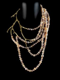 Collana di perle e metallo - from the Paiva collection, designed by Michael Pelamidis for aparté jewellery