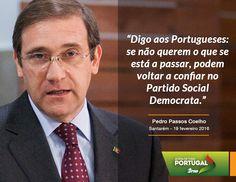 Pedro Passos Coelho, Presidente do Partido Social Democrata, nas Jornadas Parlamentares do Partido Social Democrata em Santarém. #PSD #acimadetudoportugal