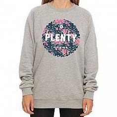 PLENTY | Floral crew Grey Heather