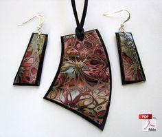 Hidden Flowers Polymer Clay Jewelry Tutorial. $6.00, via Etsy.