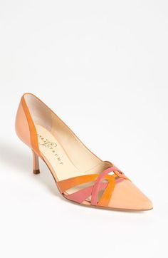 """I'm wearing these with my """"Creamsicle Colored Brees"""" from CAbi  Ivanka Trump 'Ivonne' Pump available at Nordstrom"""