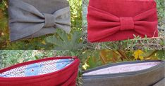 Materials Needed: 1/3 yard of heavy weight fabric for exterior (I choose an upholstery fabric for the red clutch and corduroy for ...