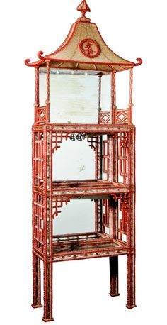 1stdibs | A Rare & Exquisite French Chinoiserie Crystal & Glass Mirrored Vitrine