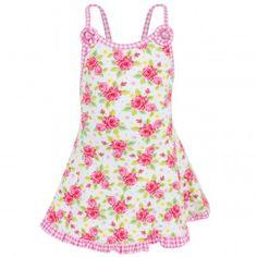 d5f4e3f657 Pate de Sable Rose print beach dress