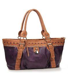 Purple Rhinestone Fashion Large Handbag - Handbags, Bling & More!