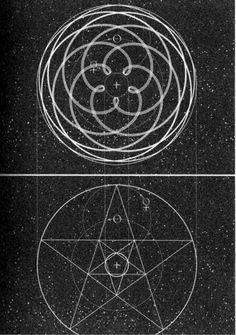 "The ""Venus-Rose"" planetary path of progression, from the viewpoint of earth."