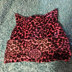 Lisa Frank pink leopard kitty ear beanie New condition Lisa Frank pink fuzzy leopard kitty cat ear beanie. So cute! Best fit for s/m head. Lisa Frank Accessories Hats