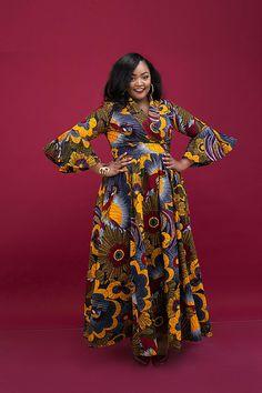 Plus Size Dress Ankara Dress Infinity Dress Wrap Dress Wedding Guest Dress Ankara Bohemian Dre African Maxi Dresses, African Wedding Dress, African Dresses For Women, Ankara Dress, African Attire, Dress Wedding, African Tops, African Print Fashion, Africa Fashion