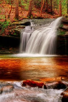 Carrick Creek Falls in Table Rock State Park, Pickens County SC