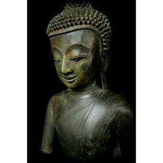Antique Buddha Sculpture, Buddha Statues, Buddha Images and Art Buddha Sculpture, Oval Faces, Buddhist Art, Burmese, Bronze, Statue, Ears, Larger, Idol