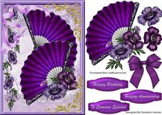 Beautiful Dark Romance Fans  on Craftsuprint - Add To Basket!