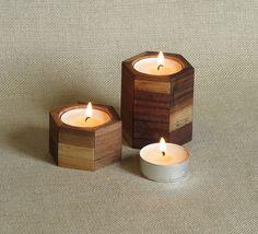 Svícny s aromatickými svíčkami - tvar šestiúhelníku