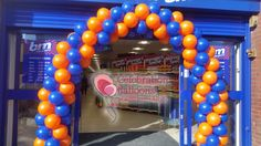 Corporate balloon arches from www.balloonsleeds.com Balloon Arch, The Balloon, Balloon Pictures, Celebration Balloons, Wakefield, Leeds, Columns, Arches, Deco