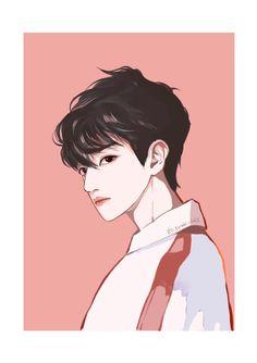 #BAEKHYUN #변백현 #exo Baekhyun Fanart, Kpop Fanart, Exo Anime, Anime Chibi, Manga Art, Anime Art, Exo Stickers, Bff Drawings, Cool Anime Guys