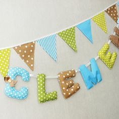 Cute baby name letters hanging 100% personalized to decorate the nursery of a…
