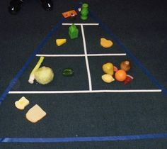 Fruits and Vegetables Preschool Theme Produce Sorting  Provide real or play produce. Include several of each different color (banana, lemon, star fruit; potato, kiwi, etc.).  Also provide many small bins or colored bowls to match the colors of produce you have.  The children sort by color. They may also decide to sort by shape, by type of produce, etc. or sort by food pyramid!  Find 30 more themed activities on this page!
