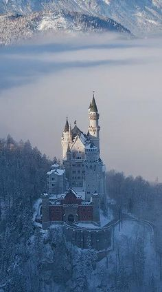 Neuschwanstein Castle-Germany ...would Love to visit the Castle that inspired Sleeping Beauty's Castle. Disney Magic!!