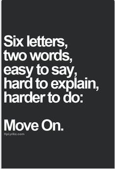 Yes, easier said then done for most people.