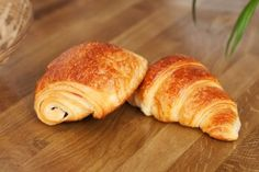 "Morning Croissant and 16h00 break ""pain au chocolat"" (goûter for kids). Delicious! But not nice for our hips... ^^  #France #french #stuff"