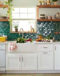 We'd cook every night with a kitchen like this.  (: @davidtsay | Design: @justinablakeney) #homedecor #HBcolor #instadesign