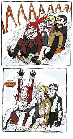 How the Shinigamis spend winter<<<XD