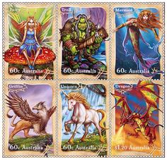 Mythical Creature's Stamps Artist Aaron Lee Pocock has had his artwork published on a set of 'Mystical Creatures' stamps in Australia.