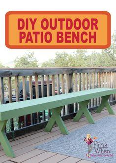If you're in need of outdoor seating for your party or when you're around the campfire, make this easy and inexpensive DIY Patio Bench!
