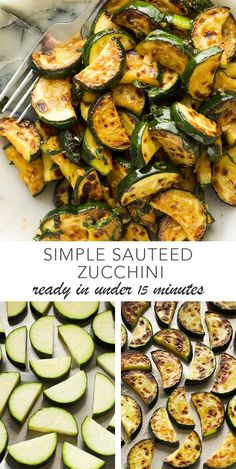 Simple Sauteed Zucchini Simple sautéed zucchini that takes under 15 minutes and is full of flavour. Makes a great side dish or perfect with some fresh bread or toast! Side Recipes, Veggie Recipes, Vegetarian Recipes, Cooking Recipes, Healthy Recipes, Roasted Vegetable Recipes, Snacks Recipes, Salmon Recipes, Pizza Recipes