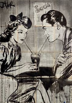 size: Stretched Canvas Print: Soda 2 by Loui Jover : Artists Using advanced technology, we print the image directly onto canvas, stretch it onto support bars, and finish it with hand-painted edges and a protective coating. Comics Vintage, The Last Summer, Vintage Pop Art, Painting Edges, Stretched Canvas Prints, Find Art, Illusion, Comic Art, Saatchi Art