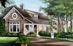 House Plan 86276 | Cape Cod Country Craftsman Traditional Plan with 2125 Sq. Ft., 3 Bedrooms, 3 Bathrooms, 2 Ca