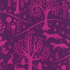 Michael Miller Norwegian Woods Fox Trot Purple