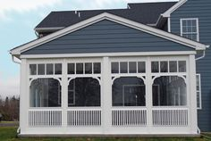 Vixen Hill Modular Screened Porch System can be installed in a single day. Use our online software to design a new porch or retrofit an existing one. Screened Front Porches, Enclosed Porches, Decks And Porches, Cedar Shutters, Wooden Shutters, Screen Porch Systems, Four Seasons Room, Sleeping Porch, Wrought Iron Gates