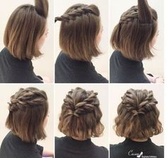 Prom Hairstyles for Short Straight Hair