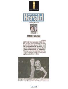 2-13-12 Boston Herald Inside Track featuring Heidi Watney and the winning bidder