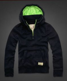 NWT HOLLISTER BY ABERCROMBIE MEN'S HOODIE JACKET. . MEDIUM . MUSCLE FIT. THICK