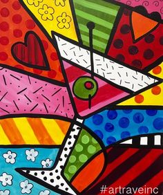 Romero Britto Arte Pop, Cubism Art, Art Drawings For Kids, Tile Art, Art Plastique, Graffiti Art, Artist Art, Rock Art, Painted Rocks