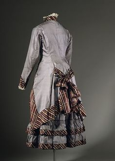 Girl's Two-Piece Dress (image 2 of 2) Description       United States, circa 1876