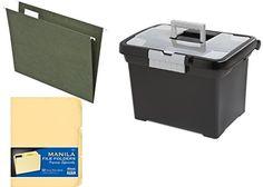 Sterilite Portable File Box Pendaflex Green Letter Size Hanging Folders 12 folders Bazic Manila File Folders 12 folders -- Want additional info? Click on the image.