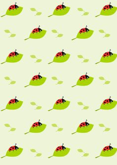 FREE printable ladybug pattern paper | #ladybird #nursery