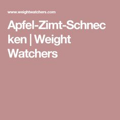 Apfel-Zimt-Schnecken | Weight Watchers