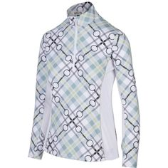Horseware Jolie Zip Top Shirt with Front Zip and Side Pockets in Animal Print