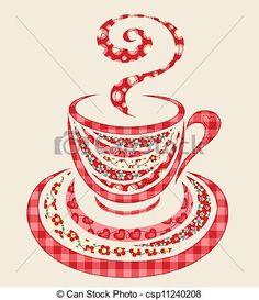 Vettore - patchwork, caffè, Tazza - archivi di illustrazioni, illustrazioni royalty free, icona stock clipart, icone stock clipart, line art, immagine EPS, immagini EPS, grafica, immagini grafiche, disegno, disegni, immagine vettoriali, artwork, arte vettoriale EPS